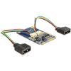 DELOCK mini PCI-E x1 2 USB2.0 mini PCI-E x1 IO vezérlő
