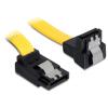 DELOCK SATA 3 F/F adatkábel 0.2m fel/le sárga