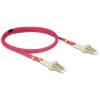 DELOCK LC M/M optikai fiber kábel 5m Multimode OM4 piros