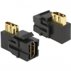DELOCK Keystone Module HDMI female > HDMI female 90° angled black