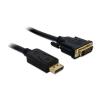 DELOCK Displayport -> DVI-D M/M video jelkábel 3m