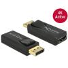 DELOCK Displayport 1.2 -> HDMI 4K M/F adapter aktív fekete