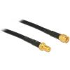 DELOCK RP-SMA M/F antenna kábel 3m CFD200 fekete