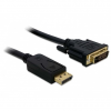 DELOCK Displayport 1.2 -> DVI-D M/M video jelkábel 1m fekete