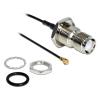 DELOCK RP-TNC -> MHF/U.FL M/F antenna kábel 0.2m Splash Proof fekete
