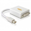DELOCK Displayport mini -> DVI-I M/F adapter 0.2m fehér