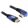 DELOCK HDMI Ethernet M/M video jelkábel 3m High Speed 90° fekete