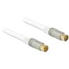 DELOCK IEC RG-6/U M/F antenna kábel 10m Premium fehér