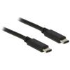 DELOCK USB Type-C 2,0 M/M adatkábel 1m fekete