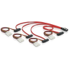 DELOCK SAS mini SFF-8087 4 Molex Power 4pin -> 4 SAS SFF 8482 M/M adatkábel 0.5m