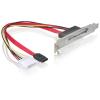 DELOCK SATA Molex Power 4pin -> SATA 22pin F/F hátlapi kivezetés 0.25m