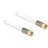 DELOCK F M/M antenna kábel 7.5m RG-6/U premium fehér