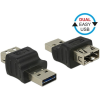 DELOCK Easy-USB M/F adapter fekete