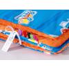 Pihe puha minky takaró - Kék-narancs járművek