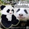 Pihe-puha pandamackó plüssállat - az ölelnivaló játszótárs! - 50 cm magasság