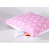 Minky párna - Fehér rózsaszín pöttyös