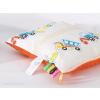 Minky párna - Narancs-fehér járművek