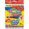 Colorino színes ceruzakészlet 12/24, DUO (kétvégű), JUMBO, háromszög test