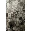 Gekkofix betűk-számok öntapadós tapéta