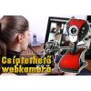 Csíptethető webkamera, állítható fejjel, LED világítással