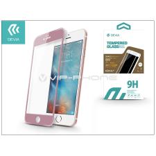 Devia Apple iPhone 6/6S üveg képernyő- + Crystal hátlapvédő fólia - Devia Jade 2 Full Screen Tempered Glass Glossy - 1 + 1 db/csomag - rose gold mobiltelefon kellék