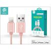 Devia Apple iPhone 5/5S/5C/SE/iPad 4/iPad Mini USB töltő- és adatkábel - 2 m-es vezetékkel (Apple MFI engedélyes) - Devia Fashion Cable Lightning - rose gold