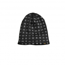 Alpha Industries All Over Loose Beanie - fekete sapka