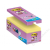 3M POSTIT Öntapadó jegyzettömb csomag, 127x76 mm, 16x90 lap, 3M POSTIT Super Sticky, sárga (LP655CS)