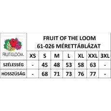 Fruit of the Loom Környakas rövid ujjú FRUIT OF THE LOOM póló, fehér-zöld