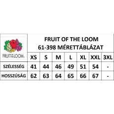 Fruit of the Loom Lady-Fit Valueweight V-nyaku póló, fehér