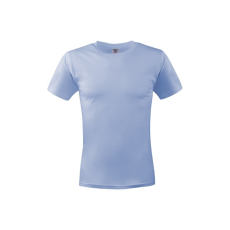KEYA unisex környakas pamut póló, világoskék