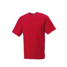 RUSSEL l környakas pamut póló, Classic Red