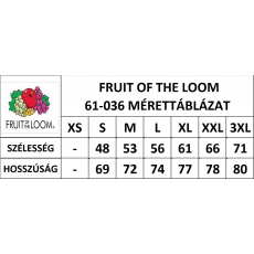 Fruit of the Loom Rövid ujjú FoL Valueweight póló, sötétkék