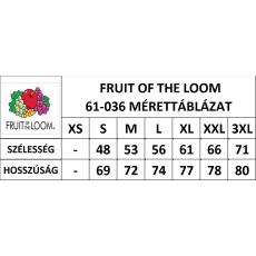 Fruit of the Loom Rövid ujjú FoL Valueweight póló, sötétkék