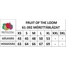 Fruit of the Loom Rövid ujjú Lady-Fit Performance póló, sárga