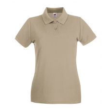 Fruit of the Loom Női premium piké polo, khaki