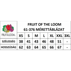 Fruit of the Loom Valueweight Vest Női trikó, mélykék