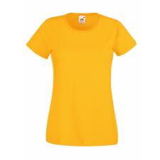 Fruit of the Loom Fit Valueweight Női kereknyaku póló, napsárga női póló