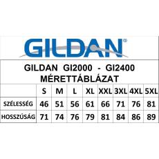 GILDAN ultra előmosott pamut póló, carolina kék