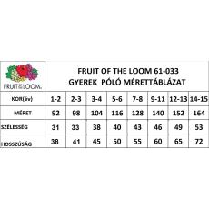 Fruit of the Loom gyerek rövid ujjú póló, fűzöld