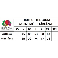 Fruit of the Loom FoL Valueweight V-nyakú póló, mélykék