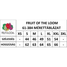 Fruit of the Loom FoL Lady-Fit hosszú ujjú, kereknyakú póló, fekete