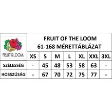 Fruit of the Loom FoL Ringer kereknyakú póló, fekete-fehér