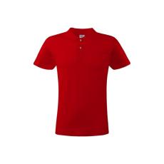 KEYA férfi galléros piké póló, piros