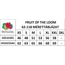 Fruit of the Loom Női Fruit of the Loom kapucnis cipzáras pulóver, azurkék