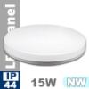 IP44 LED panel falon kívüli - kör (15 Watt)  természetes fehér