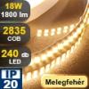 LED szalag beltéri (2835-240) - fehér (meleg)