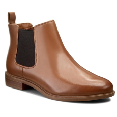 Clarks Bokacsizma CLARKS - Taylor Shine 261186314 Tan Leather
