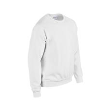 GILDAN kereknyakú pulóver, fehér