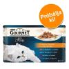 Gourmet próbacsomag 4 x 85 g - Perle: marha, nyúl, lazac & csirke